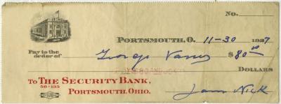 Check, Bank